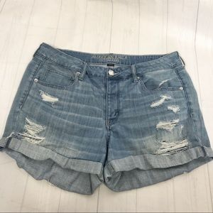 American Eagle • Tomgirl Stretch Ripped Shorts